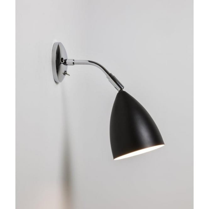 Astro 7157 Joel Wall 1 Light Switched Wall Light Black and Polished Chrome