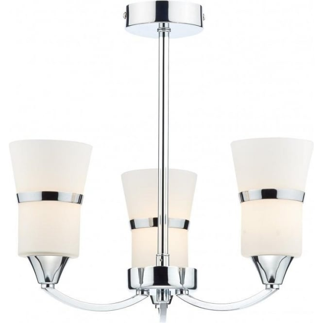 Dar DUB0350/LED Dublin 3 Light Ceiling Light Polished Chrome