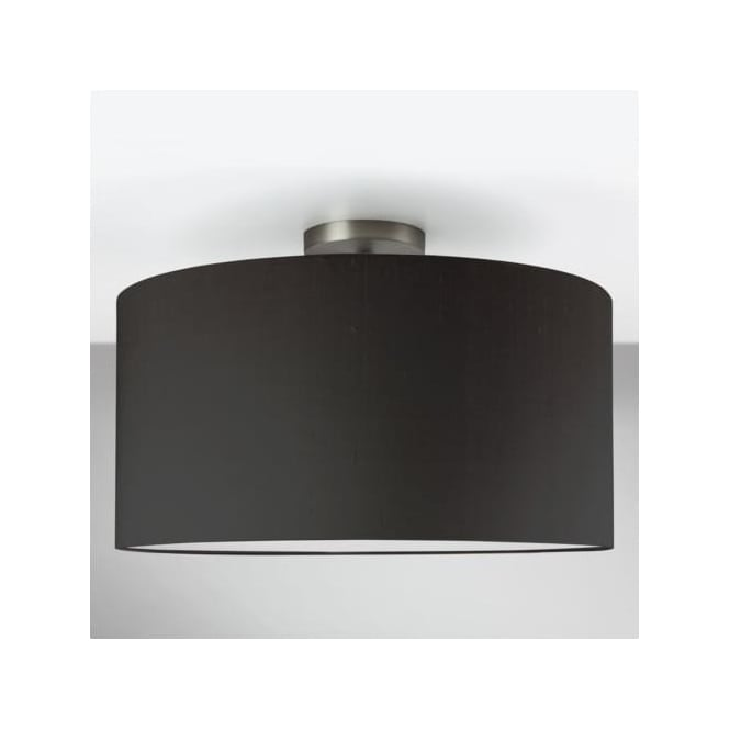 Astro 7461 Semi Flush Unit with Drum Shade Matt Nickel