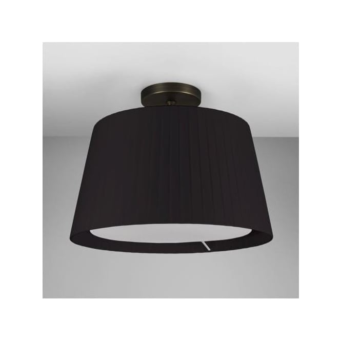 Astro 7462 Semi Flush Unit with Drum Shade Bronze