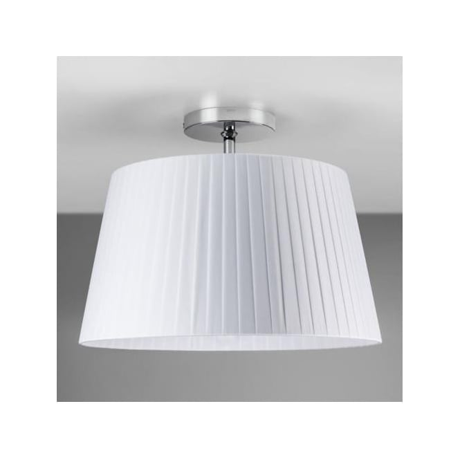 Astro 7460 Semi Flush Unit with Drum Shade Polished Chrome