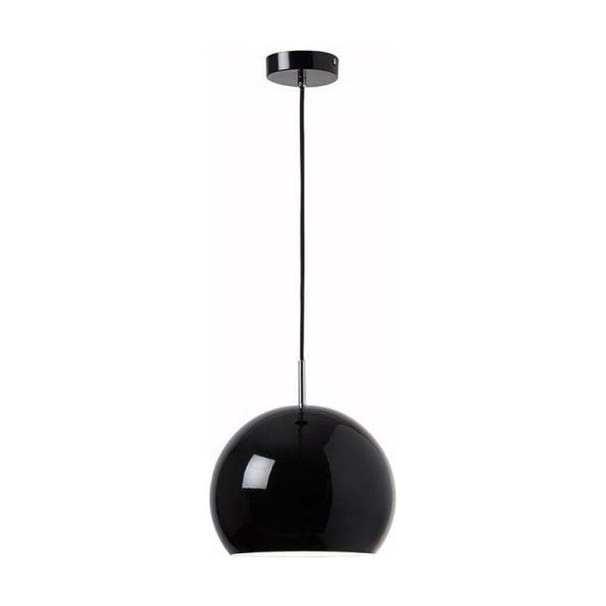 Endon ALZIRA-BL Alzira 1 Light Ceiling Pendant Black