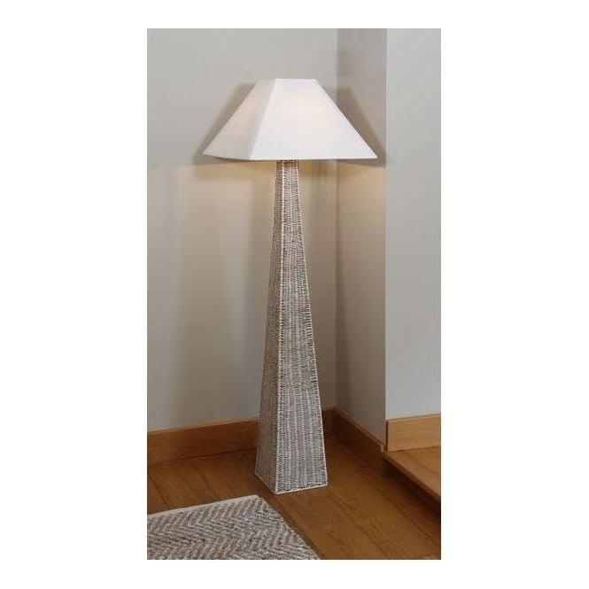 Pacific Lifestyle 503 Raffles Rattan Pyramid Floor Lamp