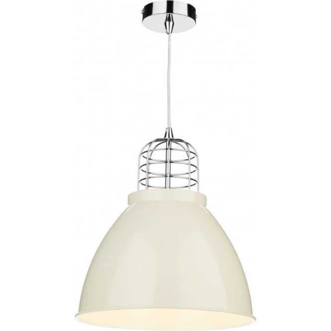 Dar SEY0133 Seymour 1 Light Pendant Cream