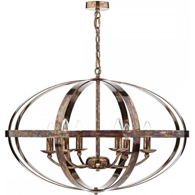 Dar SYM0664 Symbol 6 Light Ceiling Light Petrol Copper