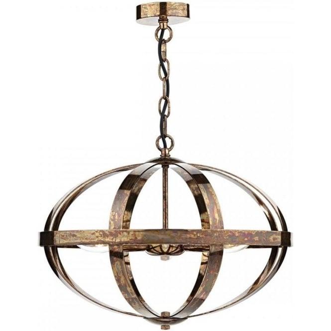 Dar SYM0364 Symbol 3 Light Ceiling Light Petrol Copper