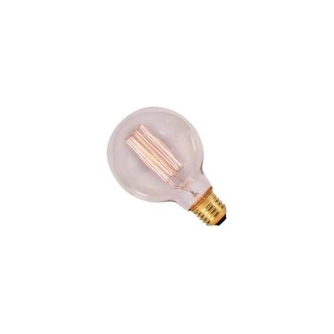 Bell 01483 ES/E27 40 Watt Vintage Globe Squirrel Cage Bulb - Amber