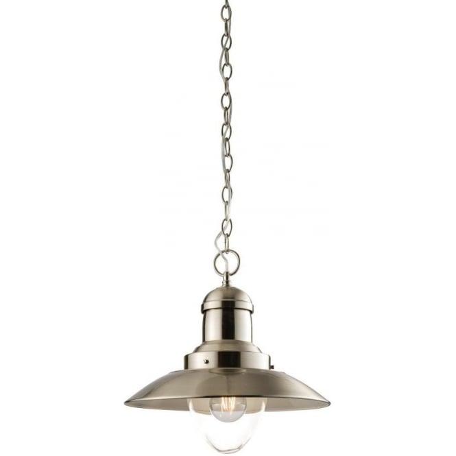 Endon 60799 Mendip 1 Light Ceiling Pendent Satin Nickel