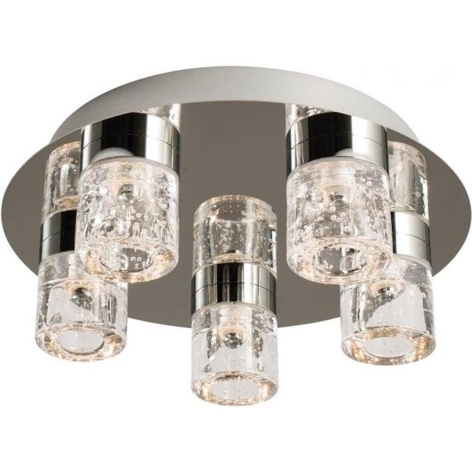 Endon 61358 Imperial 5 Light LED Flush Ceilling Light IP44 Polished Chrome