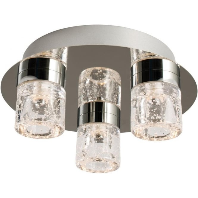 Endon 61359 Imperial 3 Light LED Flush Ceilling Light IP44 Polished Chrome