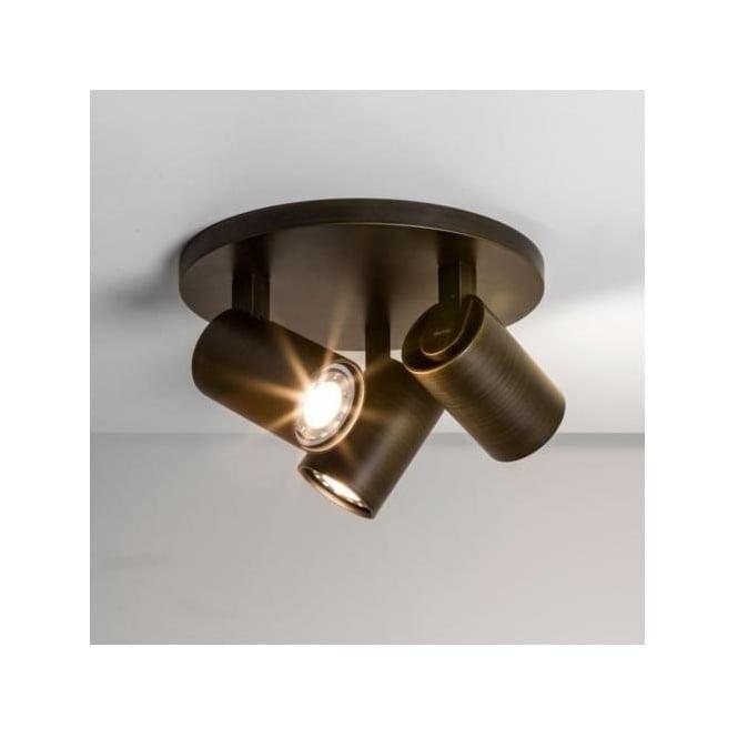 Astro 6146 Ascoli Triple Round 3 Light Spotlight Bronze