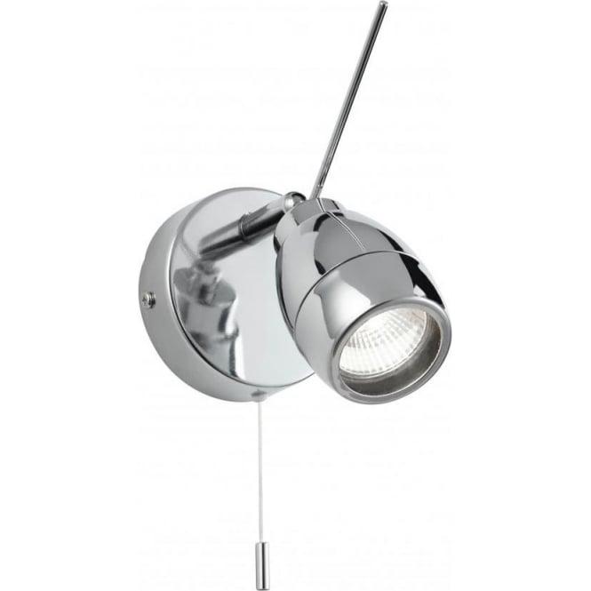 Endon EL-20107 Travis 1 Light Switched Bathroom IP44 Wall Spotlight Polished Chrome