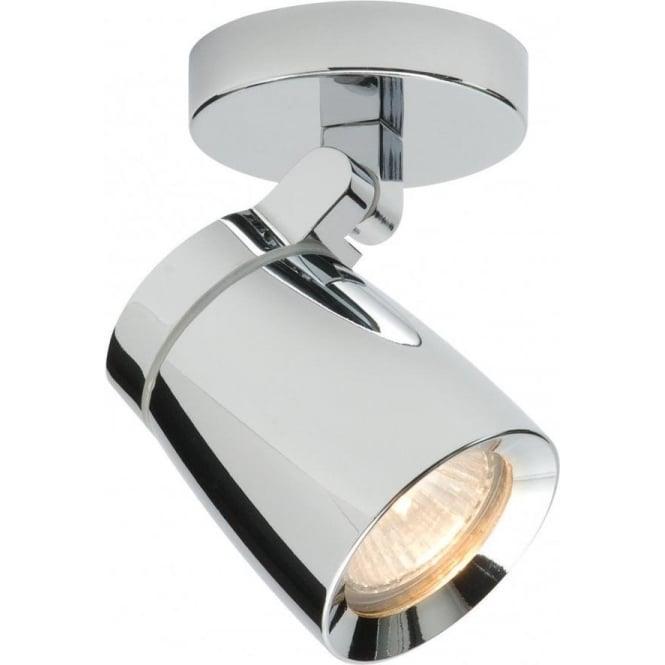 Endon 39166 Knight 1 Light Spotlight IP44 Polished Chrome