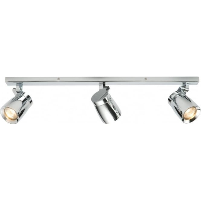 Endon 39168 Knight 3 Light Spotlight IP44 Polished Chrome