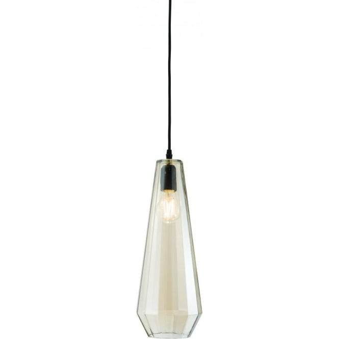 Endon 61501 Gibson 1 Light Tall Ceiling Pendant Black