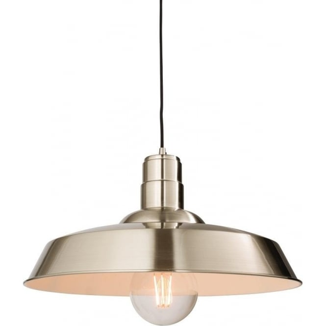 Endon 61282 Moore 1 Light Ceiling Pendant Gloss Nickel