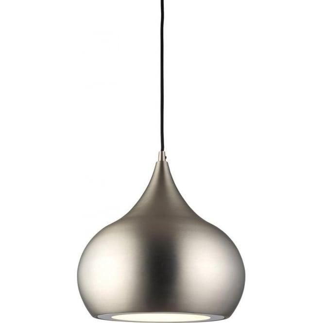Endon 61296 Brosnan LED 1 Light Ceiling Pendant Matt Nickel