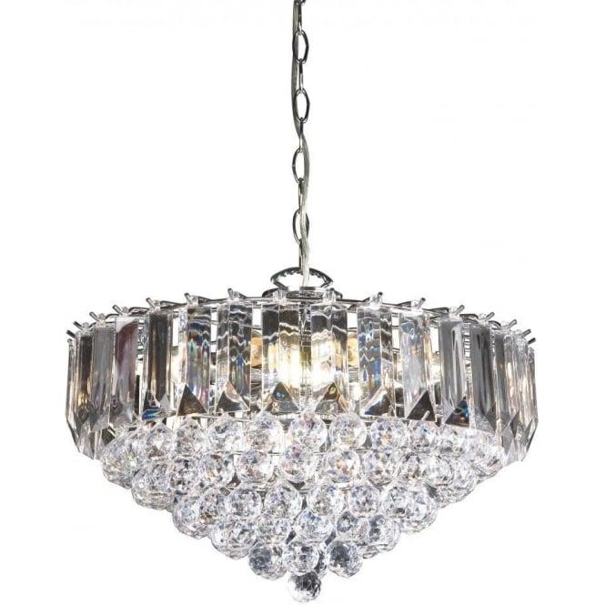 Endon FARGO-18CH 6 Light Modern Ceiling Light Chrome Plated Finish