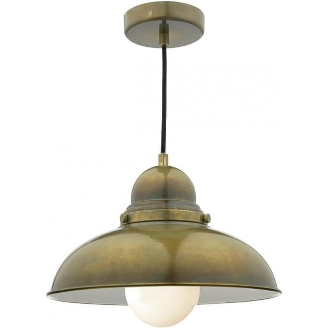 Dar DYN0142 Dynamo 1 Light Ceiling Light Weathered Brass