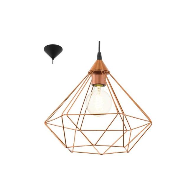 Eglo 94194 Tarbes 1 Light Ceiling Pendant Copper