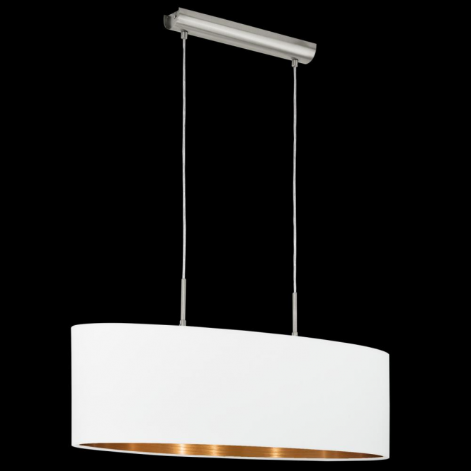 Eglo 95046 Pasteri 2 Light Pendant Matt White