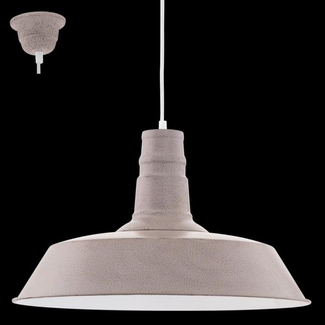 Eglo 49399 Somerton1 1 Light Ceiling Pendant Taupe-Structured Large