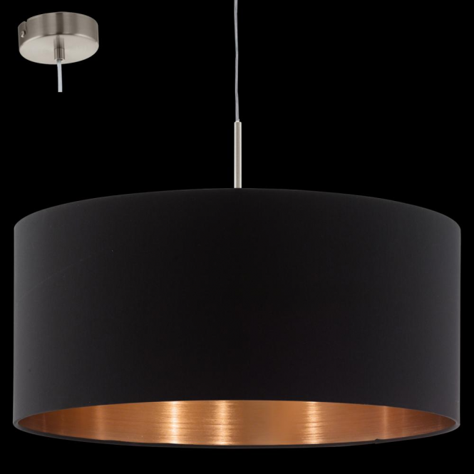 Eglo 94914 Pasteri 1 Light Pendant Matt Black