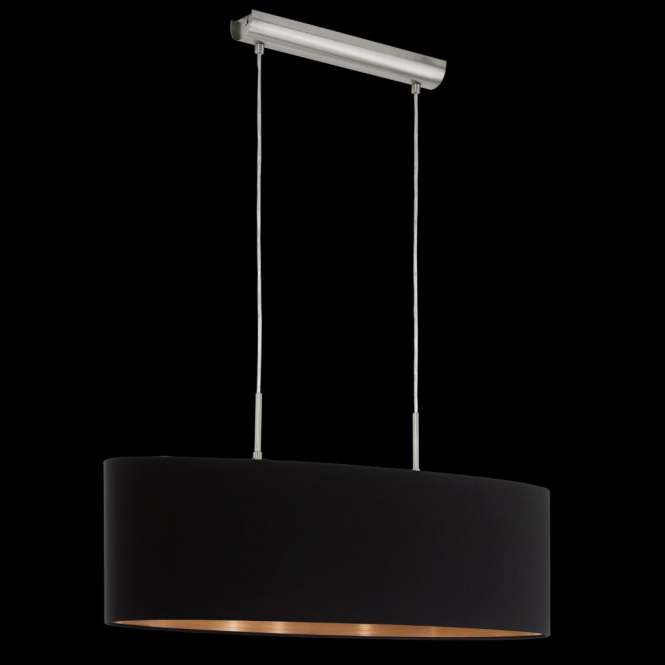 Eglo 94915 Pasteri 2 Light Pendant Matt Black