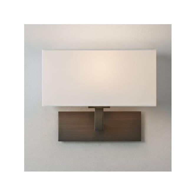 Astro 0424 Park Lane Wall Light Bronze with White Shade