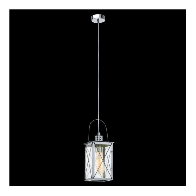 Eglo 49212 Donmington 1 Light Ceiling Lantern Polished Chrome
