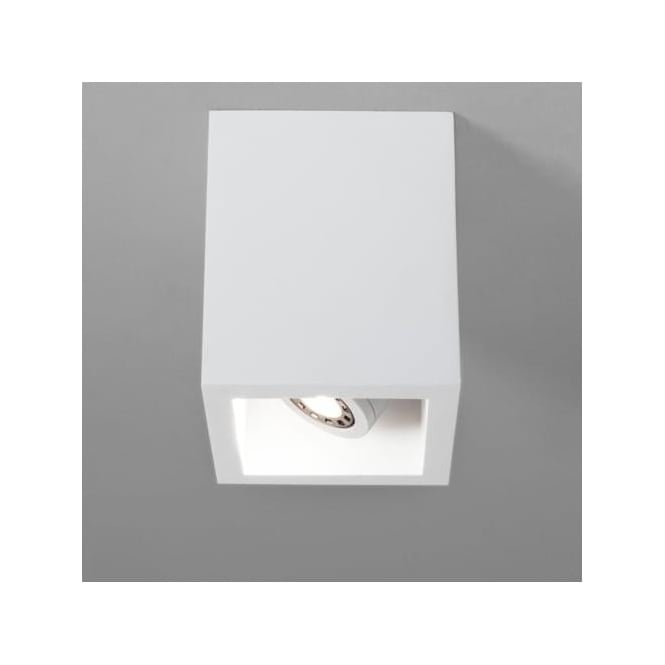 Astro 5686 Osca 140 Square Adjustable GU10 LED Plaster Finish