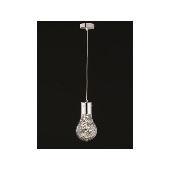 Franklite FL2334/1 Frenzy 1 Light LED Ceiling Pendant Polished Chrome