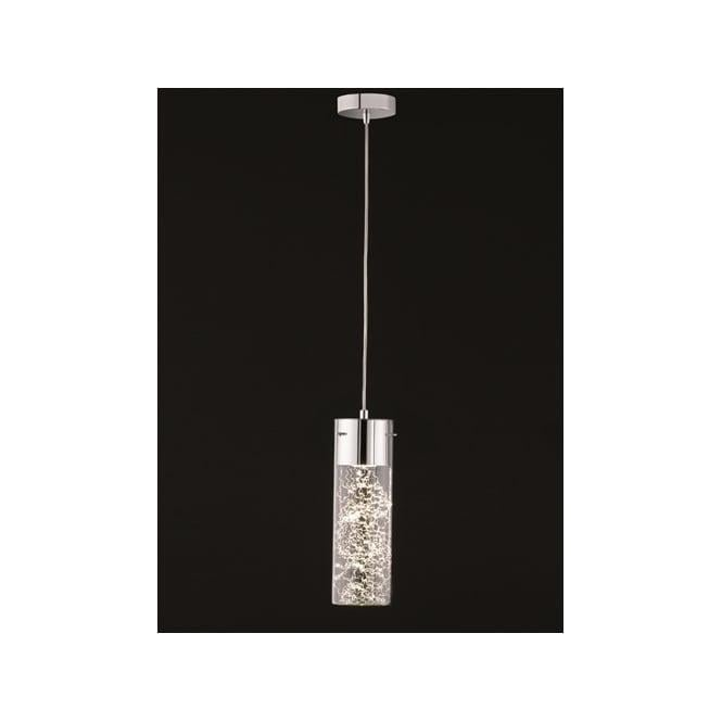 Franklite FL2332/1 Frenzy 1 Light LED Ceiling Pendant Polished Chrome