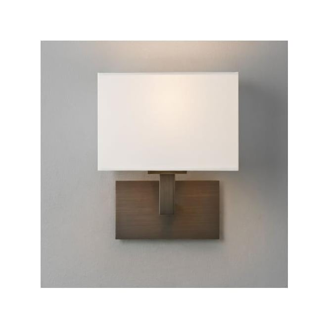 Astro 0500 Connaught Wall Light Bronze with White Shade