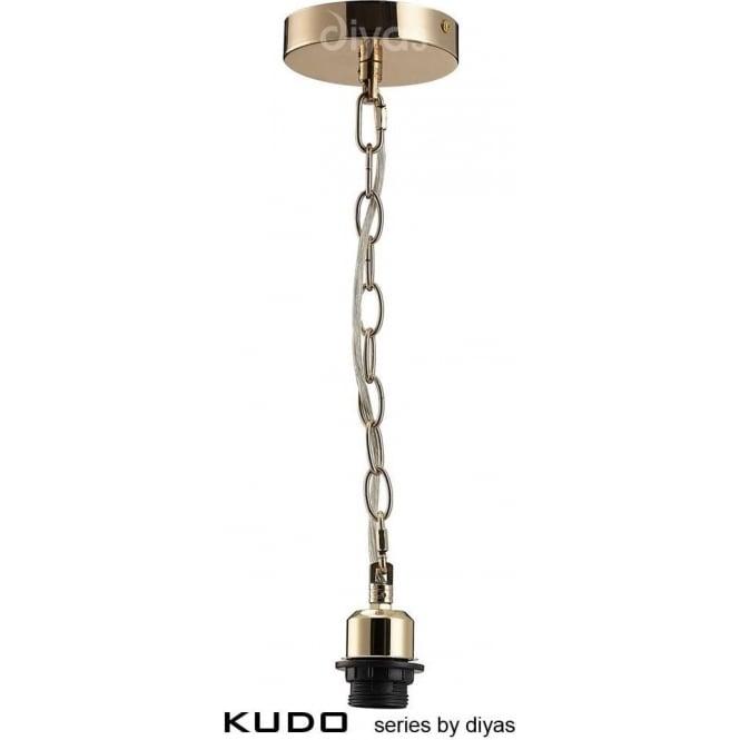 Diyas IL60015 Kudo 1 Light Suspension French Gold