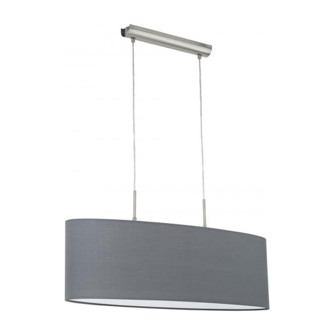Eglo 31582 Pasteri 2 Light Pendant Grey
