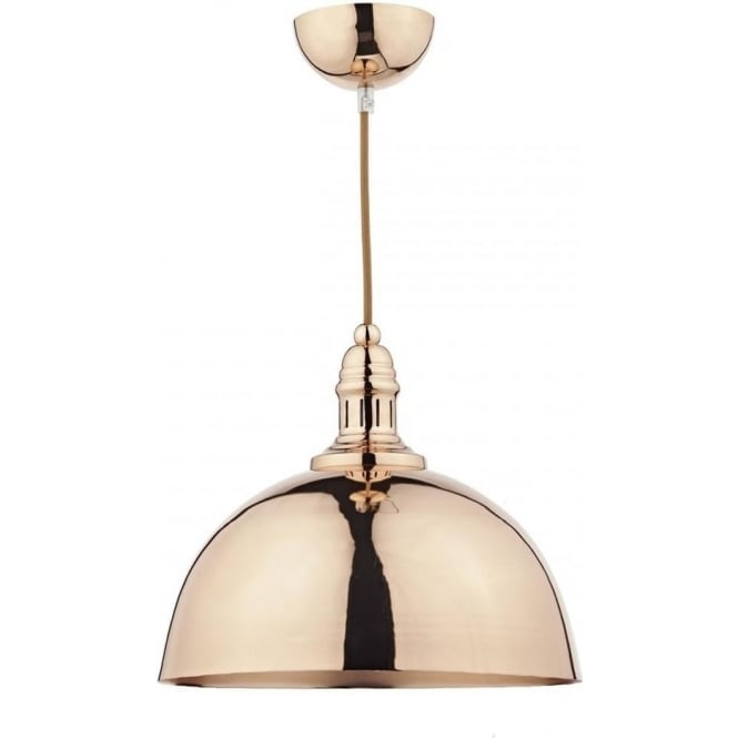 Dar YOK0164 Yoko 1 Light Pendant Copper
