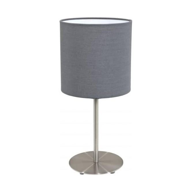 Eglo 31596 Pasteri 1 Light Table Lamp Grey