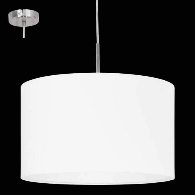 Eglo 31571 Pasteri 1 Light Pendant White