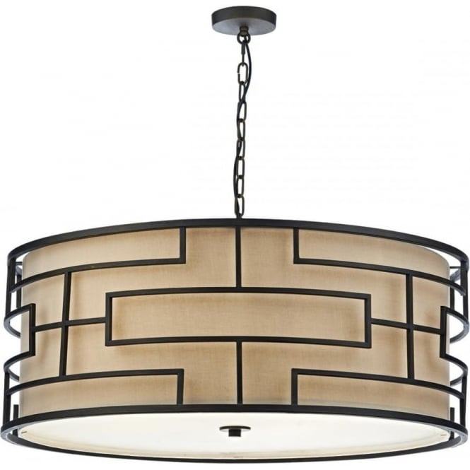 Dar TUM0663 Tumola 6 Light Pendant Bronze
