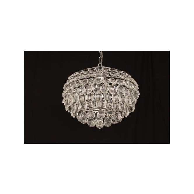 Impex Russell CF311201/04/CH Adaliz 4 Light Crystal Ceiling Pendant Polished Chrome