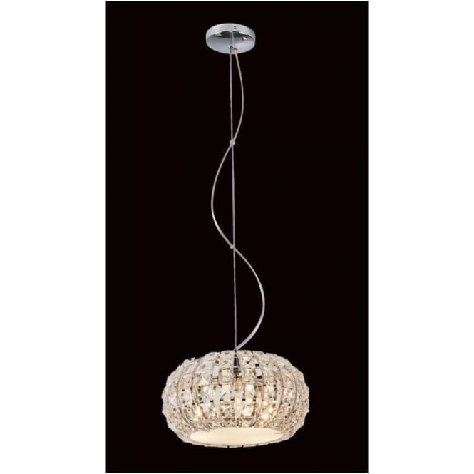 Impex Russell CFH905262/03/CH Rome 3 Light Crystal Ceiling Pendant Polished Chrome