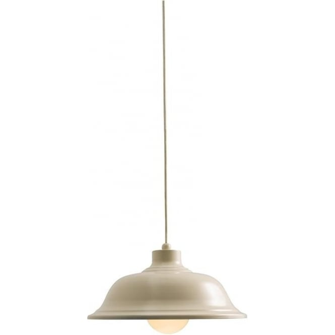 Endon 60888 Laughton 1 Light Ceiling Pendant Country Cream