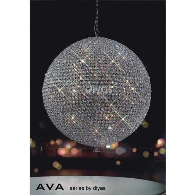 Diyas IL30196 Ava 18 Light Pendant Polished Chrome