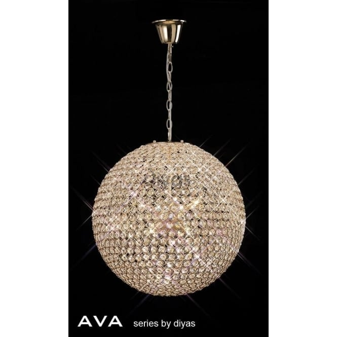 Diyas IL30754 Ava 9 Light Pendant French Gold