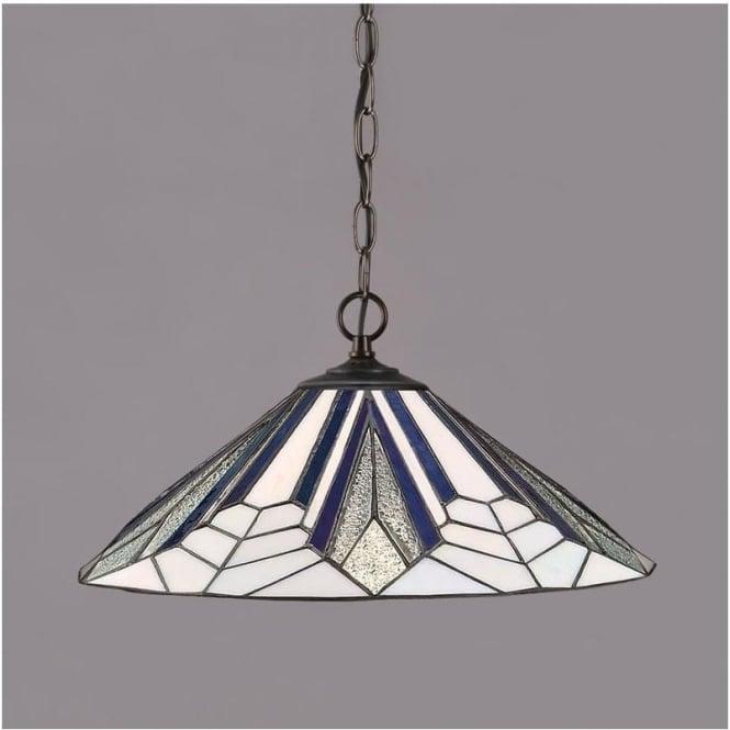 Interiors 1900 63937 Astoria 1 Light Tiffany Ceiling Pendant