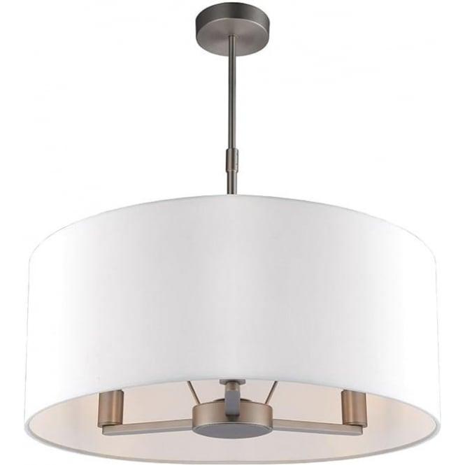 Endon 60241 Daley 3 Light Ceiling Light Matt Nickel