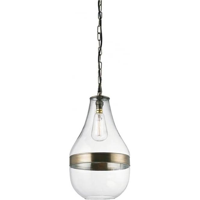 Endon EH-MONTONI Montoni 1 Light Ceiling Pendant Antique Brass
