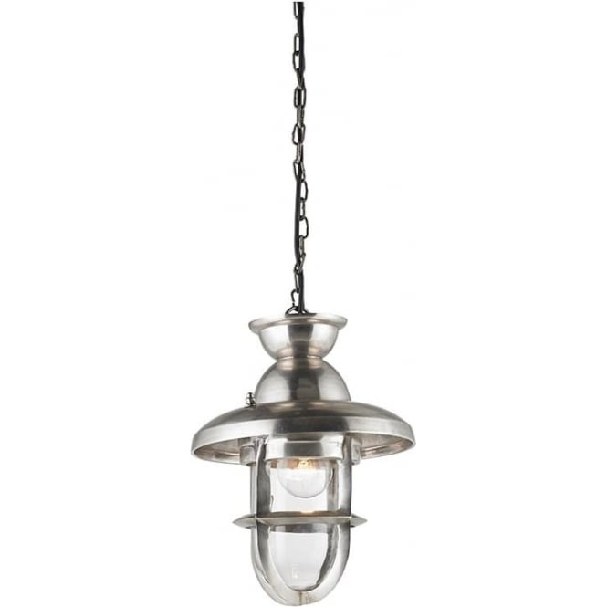 Endon EH-ROWLING-L Rowling 1 Light Ceiling Pendant Silver (Large)