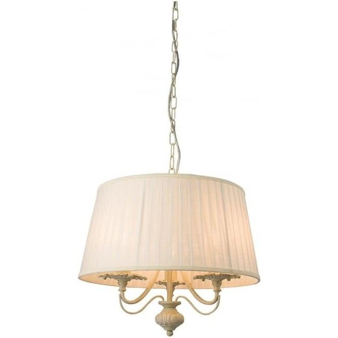 Endon 60770 Chester 3 Light Ceiling Light Brushed Gold
